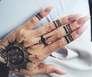 nails, fashion, and tattoo image
