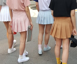 girl, skirt, and pale image