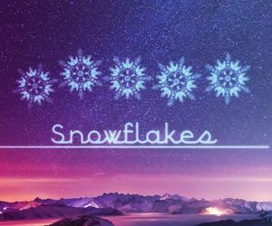 galaxy, purple, and snow image