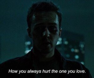 quotes, fight club, and hurt image