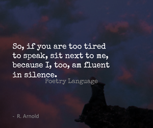 poetry, quote, and silence image