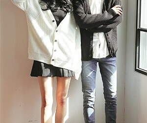 clothes, couple, and fashion image