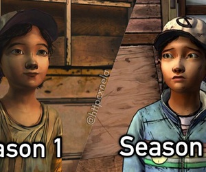 clementine, video game, and season 1 image