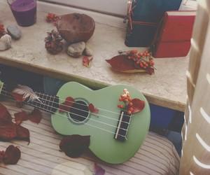 autumn, ukulele, and bedroom image