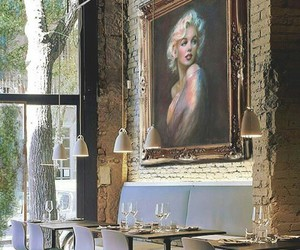 Marilyn Monroe, place, and restaurant image
