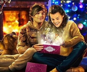 christmas, fanart, and louis tomlinson image