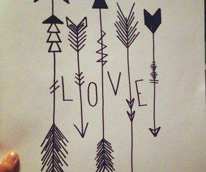 love, arrow, and drawing image