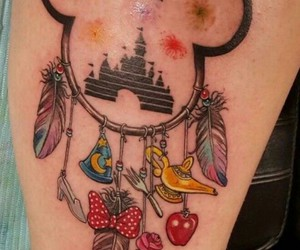 disney, tattoo, and mickey image