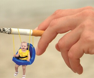 cigarette, trippy, and weird image