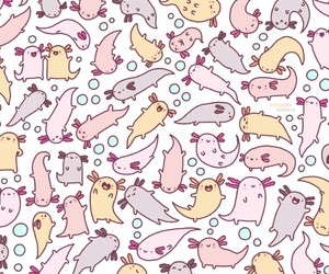 axolotl, cute, and pattern image