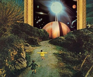 art, planets, and psychedelic image