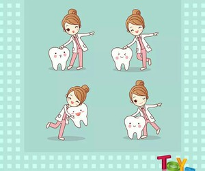 children, doctor, and tooth image