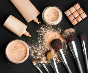makeup, Brushes, and Foundation image