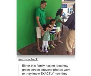 family, funny, and green screen image