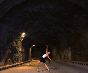ballet, dark, and cambré image