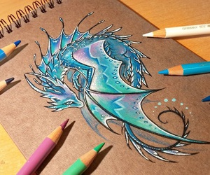 dragon, drawing, and art image