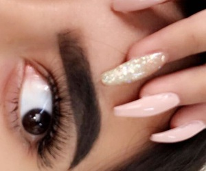 eyebrows, love it, and nails image