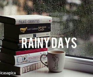 book, rain, and rainy days image