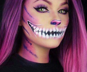 Halloween, cat, and make up image