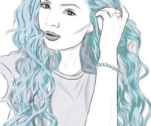 outline, blue, and grunge image
