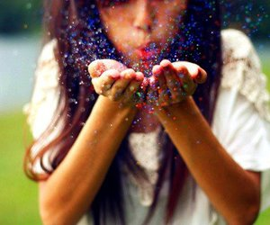 girl, tan, and glitter image