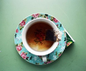 tea, cup, and floral image