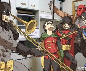 batman, robin, and DC image