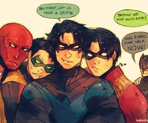 batman, robin, and red hood image
