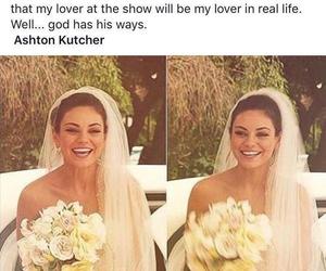 ashton kutcher, dress, and flowers image
