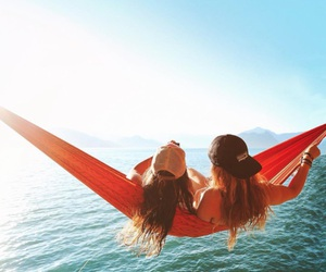 summer, girls, and friends image