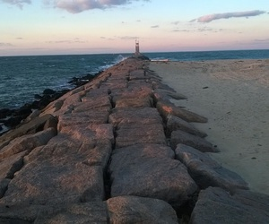 beaches, lighthouse, and montauk image