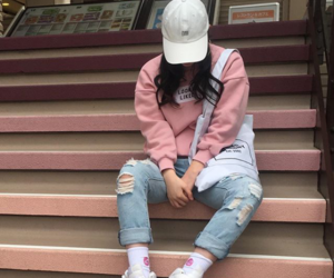 pink and street clothes image