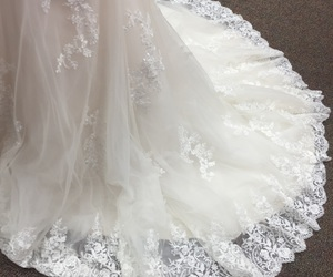 lace, wedding, and white image