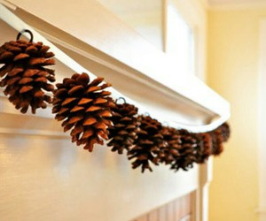 christmas, diy, and pinecone image