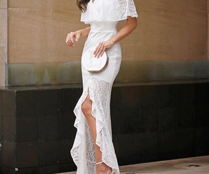 dress, long dress, and white image