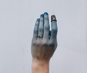 blue, frost, and hand image