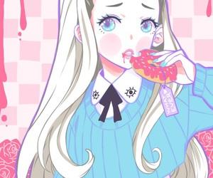 kawaii, anime, and donuts image