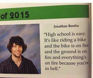 funny, high school, and hell image