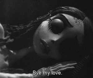 love, corpse bride, and bye image