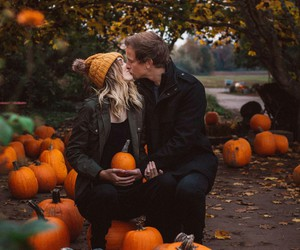 couple, fall, and goals image