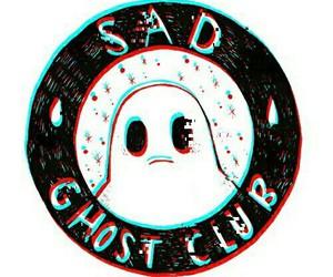 ghost, sad, and club image