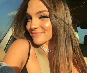 brown hair, pretty girl, and makeup image