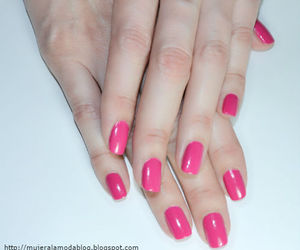 moda, fucsia, and nails image