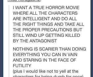 funny, tumblr, and horror movies image