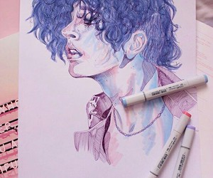 art, the 1975, and blue image