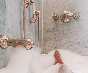 bath, gold, and relax image