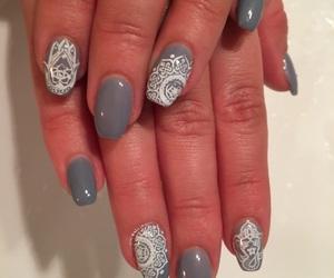 grey, long nails, and nails image