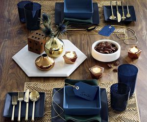 blue, christmas, and decorations image
