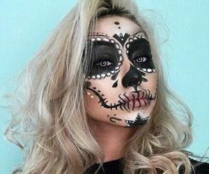 dia de los muertos, day of the dead makeup, and catrina image