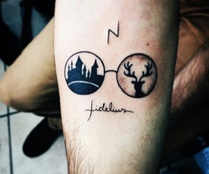 tattoo and harry potter image
